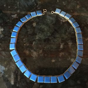 Jewelry - Vintage cobalt blue choker necklace